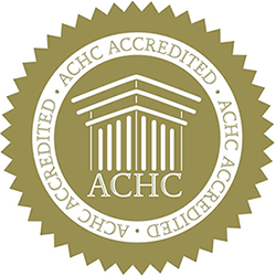 accreditation seal from the Accreditation Commission for Health Care